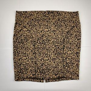NWT Torrid Leopard Stretch Pin Up Pencil Skirt